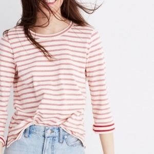 Madewell Striped boxy fit long sleeve